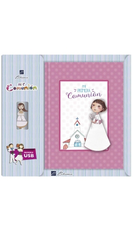Libro de Firmas Comunión + Memoria USB 8GB Edima U500844