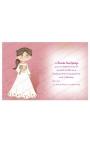 Pack 20 Invitaciones Comunión + Sobre Rosa Edima 413854-B