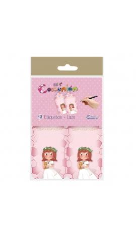 Pack 12 Etiquetas de Obsequio + Lazo Edima 410976-B