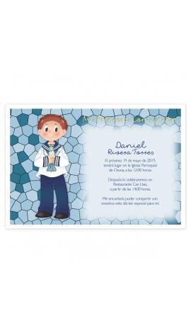 Pack 20 Invitaciones Comunión + Sobre Rosa Edima 413975-B