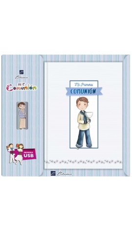Libro de Firmas Comunión + Memoria USB 8GB Edima U500985