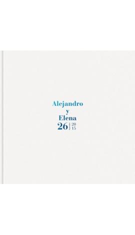LIBRO DE FIRMAS BODA, BLANCO BRILLO, VINTAGE PK700130